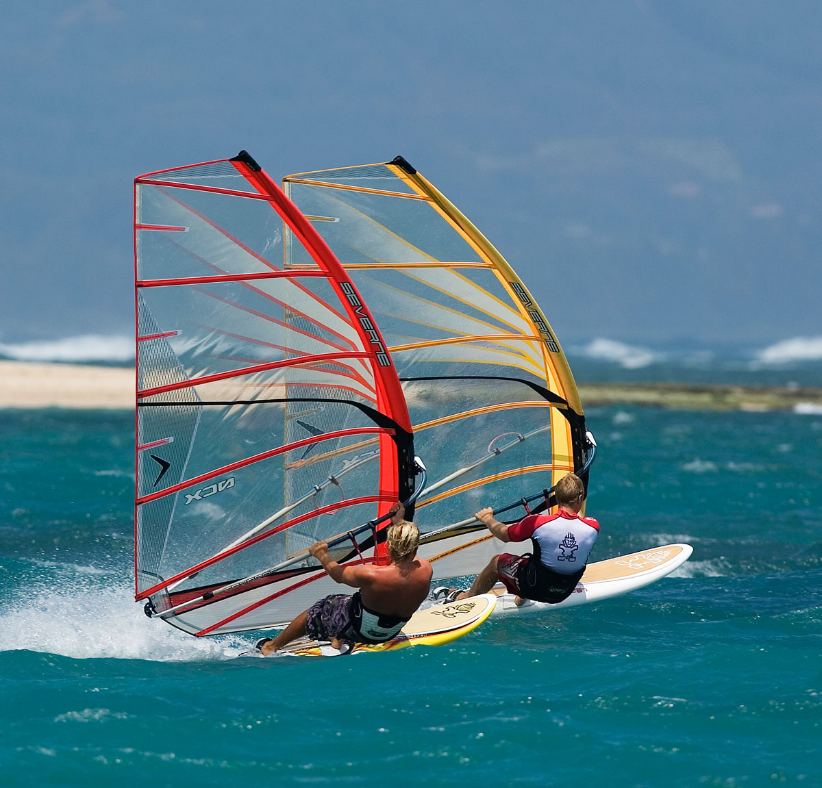 Wind-surfer-Langebaan