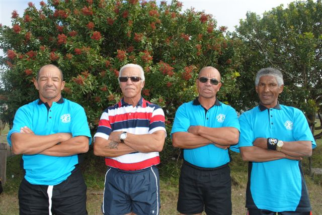 The SA 4x100 relay team for over 60's.